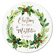 Courtside Market Christmas Wishes Wreath 12x12 Circular Wood Décor