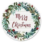 Courtside Market Merry Christmas 12x12 Circular Wood Wall Décor