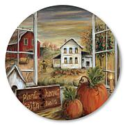 "Courtside Market Plant Harvest Love 15""x 15"" Circular Panel"