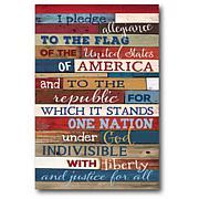 Courtside Market Pledge Of Allegiance 18x26 Canvas Wall Art