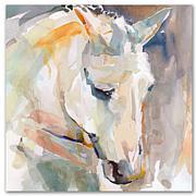 Courtside Market Watercolor Stallion I 16x16 Canvas Wall Art