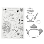 Crafter's Companion Gemini Tea Stamp and Die Set Set