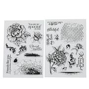Crafter's Companion Statement Floral Collage Image & Background Stamps