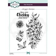 Creative Expressions Designer Boutique Sweet Cherry A5 Clear Stamp Set