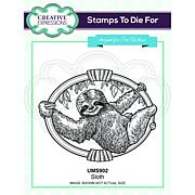 Creative Expressions Sloth Pre Cut Stamp Co-ords with CED1313
