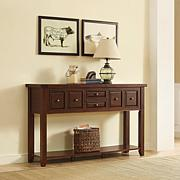 Crosley Furniture Sienna Entryway Table - Rustic Mahogany