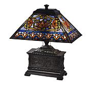 Dale Tiffany Treasure Chest Tiffany-Style Table Lamp