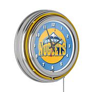 Denver Nuggets Double Ring Neon Clock