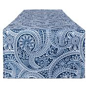 Design Imports Blue Paisley Print Outdoor Table Runner 14x108