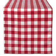 Design Imports Red Check Outdoor Table Runner 14x108