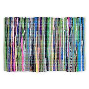 "Design Imports 20""x 31.5"" Multicolor Reversible Rag Rug"