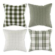 Design Imports Assorted Farmhouse Pillow Covers 18x18 Set of 4