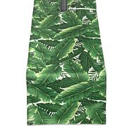 "Design Imports Banana Leaf Outdoor Table Runner 14""x108"""