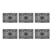 Design Imports Black Lace Vinyl Placemats Set of 6