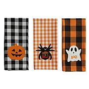 Design Imports Boo! Embellished Kitchen Towel Set of 3