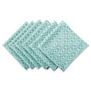 Design Imports Diamond Print Outdoor Napkin Set of 6