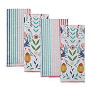 Design Imports Easter Garden Kitchen Towel Set 4-pack