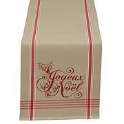 """Design Imports Joyeux Noel Christmas Reversible Table Runner 14"""" x 72"""""""
