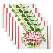 Design Imports Merry Christmas Print Placemat Set of 6