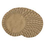 Design Imports Natural Jute Round Ruffle Trim Placemats - Set of 6
