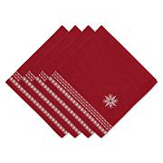 Design Imports Nordic Snowflake Embroidered Napkins - Set of 4