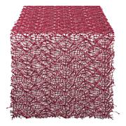 """Design Imports Red Sequin Mesh Table Runner Roll - 16"""" x 10'"""