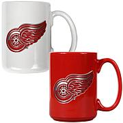 Detroit Redwings 2pc Coffee Mug Set