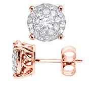 Diamond Couture 14K Gold 0.5ctw Diamond Round Stud Earrings