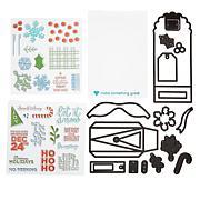 Diamond Press Holiday Gift Bag Stamp and Die Set