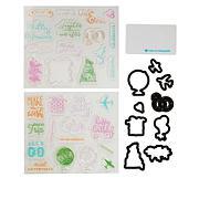 Diamond Press Photo Memory Stamp and Die Kit