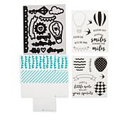 Diamond Press Up Up & Away Hot Air Balloons Stamps & Dies
