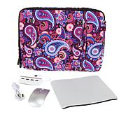 "Digital Basics 15"" Laptop Sleeve with Mouse and Accessories"