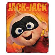 """Disney Incredibles 2 """"Baby Jack"""" 50"""" x 60"""" Silk Touch Throw"""