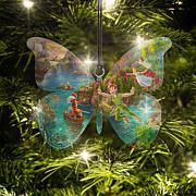 Disney Thomas Kinkade Peter Pan Butterfly-Shaped Hanging Acrylic