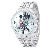 Disney Women's Mickey and Minnie Crystal-Accented Watch