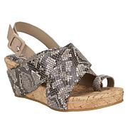 Donald J. Pliner Gary Suede or Leather Platform Wedge Sandal