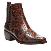 Donald J. Pliner Marisol Snake Embossed Leather Ankle Bootie