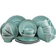 Elama Ocean Breeze 16-piece  Dinnerware Set