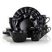 Elama Retro Chic 16-piece Glazed Dinnerware Set