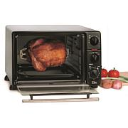Elite Cuisine 0.8 Cubic Foot Toaster Oven Broiler with Rotisserie
