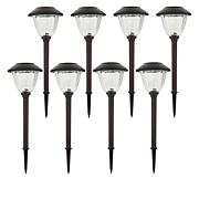 Energizer Solar 8-pack of Outdoor Stainless Steel Path Lights