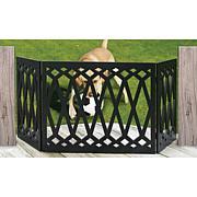 Etna Diamond Pattern Wood Dog Gate