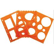 Fiskars ShapeTemplate Set - Circles, Ovals & Rectangles