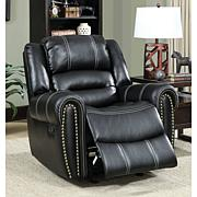 Furniture of America Logan Breathable Leatherette Recliner - Black
