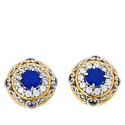 Gems by Michael Blue Spinel and Clear Zircon Stud Earrings