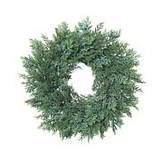 """Gerson 22""""Dia. Cedar Wreath with Berry Accents"""