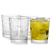 Gibson Home Great Foundations 4 piece 13 oz Embossed Glass Set