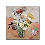 Vincent van Gogh Roses and Anemones, 1890 Art Print