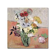 Vincent van Gogh Roses and Anemones, 1890 Art Print