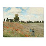 "Giclee Print - Wild Poppies Near Argenteuil 47"" x 35"""